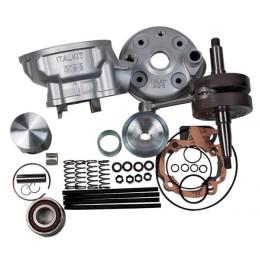 Kit Italkit RACING 85cc con cigüeñal carrera larga 44mm, d.50mm,Bulón 12mm, culata modular, 1 segmento, incluye rodamientos, Minarelli AM6