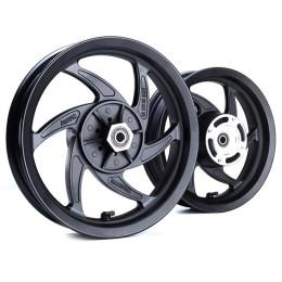 """Juego de llantas 12"""" Pitbike Mobster Vortex aluminio Negro Ref:MOB-55555"""