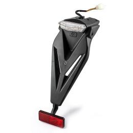 Portamatricula LED con catadrioptico Homologado CE Universal motos de marchas Ref:MS40212