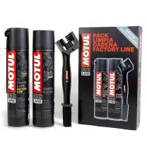 Pack Motul MC Care Limpiador Cadena + Lubricante Factory Line