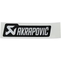 Pegatina de recambio 135x40mm Negro/Plateado Akrapovic