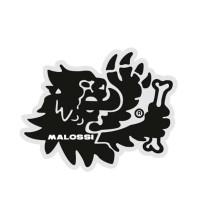 Pegatina Malossi 3D (pequeño Set de 2 - Leon/ Logotipo), silicona - ~5cm