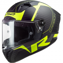 Casco integral LS2 FF805 Thunder Racing 1 Carbono / Amarillo Fluor Mate