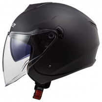Casco Jet LS2 OF573 Twister II Single Mono Negro Mate