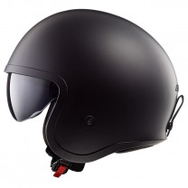 Casco Jet LS2 OF599 Spitfire Single Mono Negro Mate