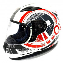 Casco Integral Junior UNIK CN-04 Flip blanco/rojo/negro