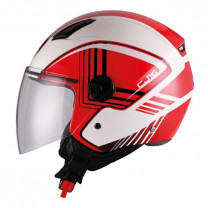 Casco Jet Unik CJ-16 Same Blanco/rojo