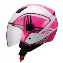 Casco Jet Unik CJ-16 Same Blanco/rosa
