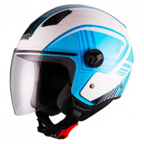Casco Jet Unik CJ-16 Same Blanco/azul
