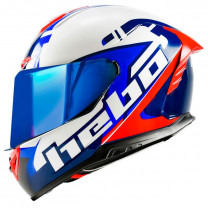 Casco integral Hebo Face blanco/azul/rojo