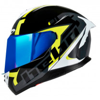 Casco integral Hebo Face negro/amarillo/blanco