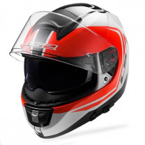 Casco Integral LS2 FF397 Vector FT2 Wake blanco negro rojo