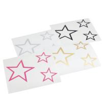 Pegatina (set de 3 ud) Estrella - elige color: