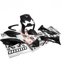 Carenados Yamaha Jog R RR / MBK Mach G 9 piezas Negro Mate AllPro + Pegatinas