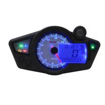 Velocímetro Koso RX1N GP Style Display blanco, luz azul (CE)