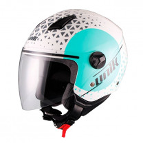 Casco Jet Unik CJ-16 Oracle azul turquesa