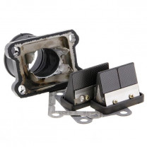 Sistema de admisión Derbi senda d=35mm Doble prisma carbono Italkit