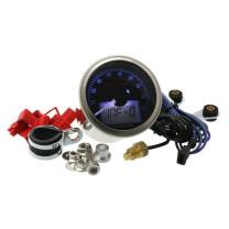 Cuentarrevoluciones KOSO Eclipse Style, RPM / TEMP, 0-9.000 RPM, 0-150°C, d= 55mm, iluminado azul