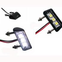 Iluminacion LED para soporter matrícula Koso, 17,5x42mm, homologado CE