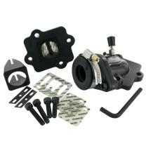 "Sistema de Admisión Minarelli horizontal Stage6 MkII ""OVERSIZE VALVE"" adapt. 23mm Dell.d.10-21mm/Arr. 17-21mm caja laminas"