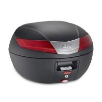Maleta Monokey® V40 con catadriópticos Rojo 40 lts Givi