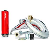 Escape Derbi Senda/DRD / Aprilia RX/SX VOCA Cross Chromed 50/70cc (CE) - Silenciador rojo