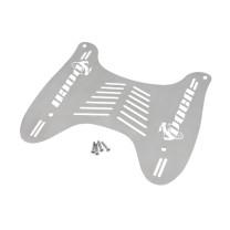Reposapiés VOCA Racing Style Division, cortado a láser, Honda SH/Shi 125/150cc (2001-2008), Acero Inox