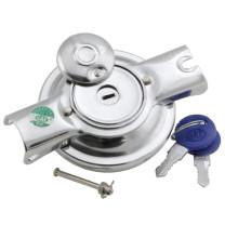 Tapón gasolina con cerradura y dos llaves cromado, Vespa Due, Vespa 125,150,160, 200