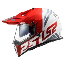 Casco Cross LS2 MX436 Pioneer EVO Evolve Rojo Blanco