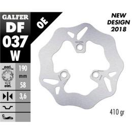 Disco de freno Galfer Wave, D32 (DF037W; d.190mm, espes.4mm, 3 anclajes), p.ej. Honda Yupi90/Bali50-100 / Nitro/ AEROX