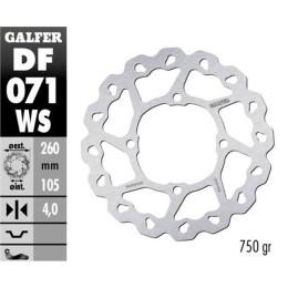 Disco de freno Galfer Wave,Oversize 260mm,4mm de grosor, flotante (sin adaptador), Honda SH125-150 (DF071WS) - hasta 2008