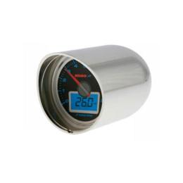 """Carcasa cromada KOSO, para soporte manillar 1 y 7/8"""", para todos marcadores GP Style 55mm"""