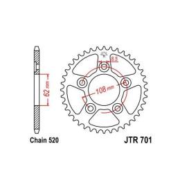 Corona de acero 38 dientes Cagiva Mito Evolution 125cc JT